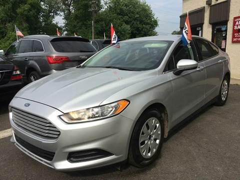 2014 Ford Fusion for sale at Luxury Unlimited Auto Sales Inc. in Trevose PA