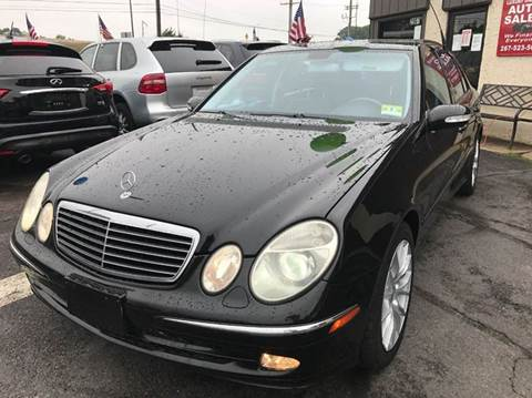 2003 Mercedes-Benz E-Class for sale at Luxury Unlimited Auto Sales Inc. in Trevose PA