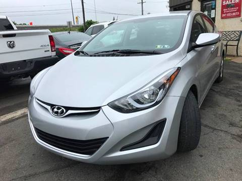 2016 Hyundai Elantra for sale at Luxury Unlimited Auto Sales Inc. in Trevose PA