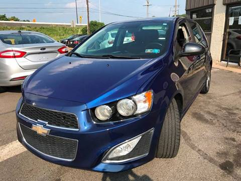 2014 Chevrolet Sonic for sale at Luxury Unlimited Auto Sales Inc. in Trevose PA