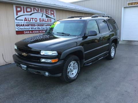 2003 Chevrolet Tahoe for sale at Pioneer Auto Sales - Special Financing in Pioneer OH