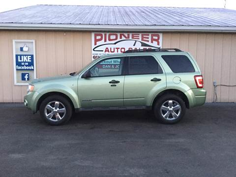 2008 Ford Escape for sale at Pioneer Auto Sales - Cash in Pioneer OH
