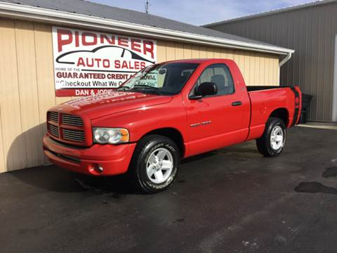2002 Dodge Ram Pickup 1500 for sale at Pioneer Auto Sales - Special Financing in Pioneer OH