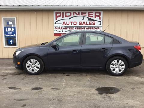 2014 Chevrolet Cruze for sale at Pioneer Auto Sales - Special Financing in Pioneer OH