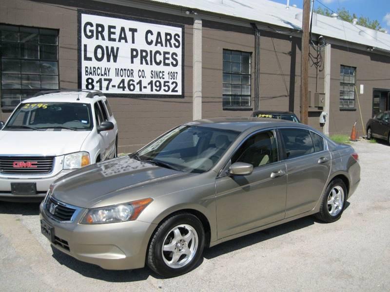 2008 Honda Accord LX 4dr Sedan 5A   Arlington TX