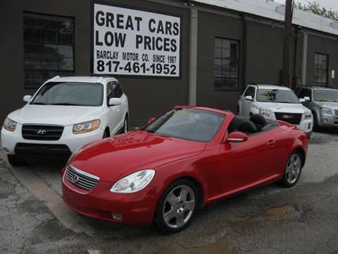 Nice 2002 Lexus SC 430 For Sale In Arlington, TX