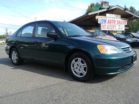 2001 Honda Civic for sale in Sedro Woolley, WA
