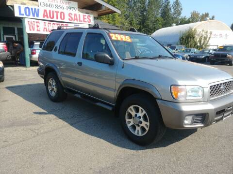 2001 Nissan Pathfinder for sale at Low Auto Sales in Sedro Woolley WA