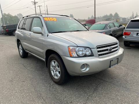 2002 Toyota Highlander for sale at Low Auto Sales in Sedro Woolley WA