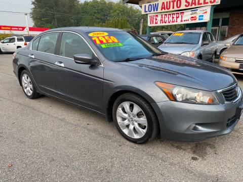 2008 Honda Accord for sale at Low Auto Sales in Sedro Woolley WA