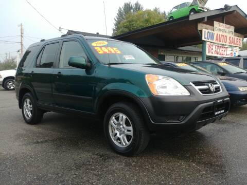 2002 Honda CR-V for sale at Low Auto Sales in Sedro Woolley WA