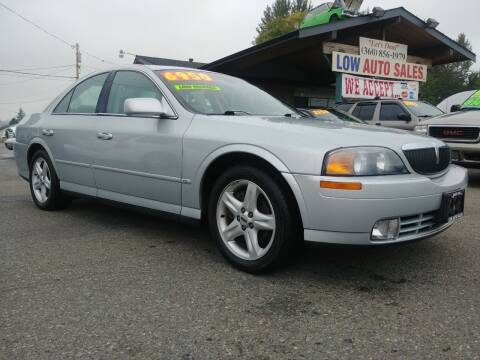 2001 Lincoln LS for sale at Low Auto Sales in Sedro Woolley WA