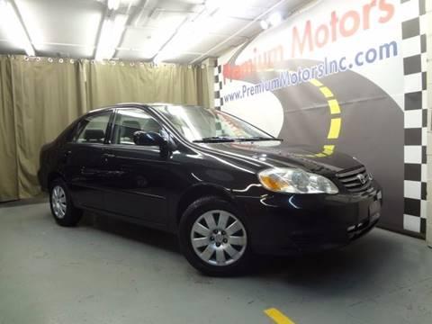 2003 Toyota Corolla for sale at Premium Motors in Villa Park IL