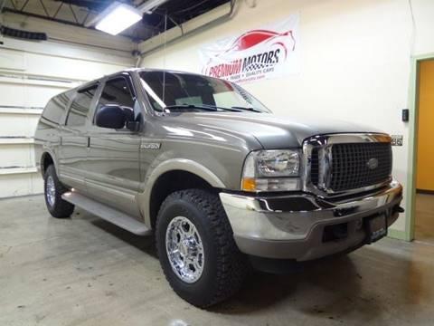 2002 Ford Excursion for sale at Premium Motors in Villa Park IL