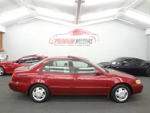 1999 Toyota Corolla for sale at Premium Motors in Villa Park IL