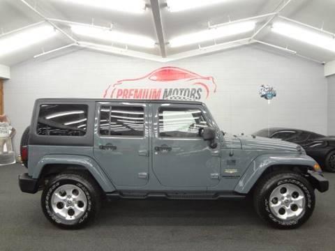 2014 Jeep Wrangler Unlimited for sale at Premium Motors in Villa Park IL