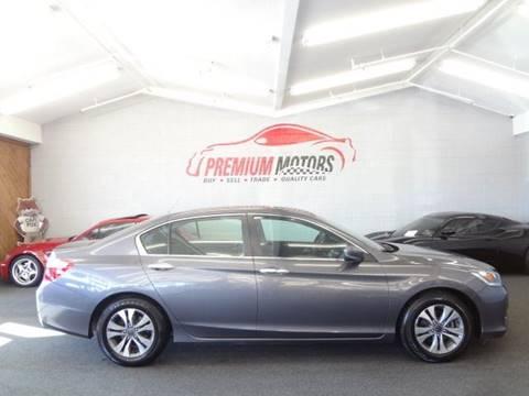 2014 Honda Accord for sale at Premium Motors in Villa Park IL