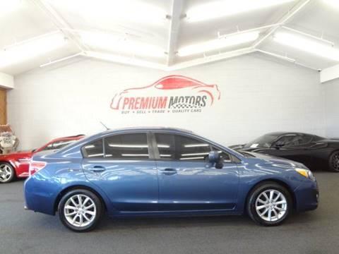 2013 Subaru Impreza for sale at Premium Motors in Villa Park IL