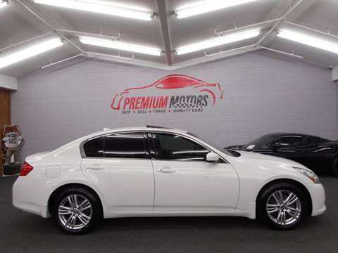2013 Infiniti G37 Sedan for sale at Premium Motors in Villa Park IL