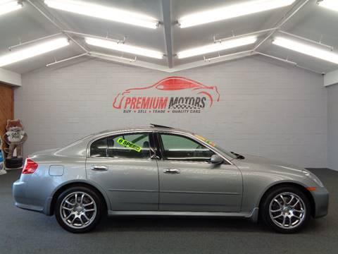 2006 Infiniti G35 for sale at Premium Motors in Villa Park IL