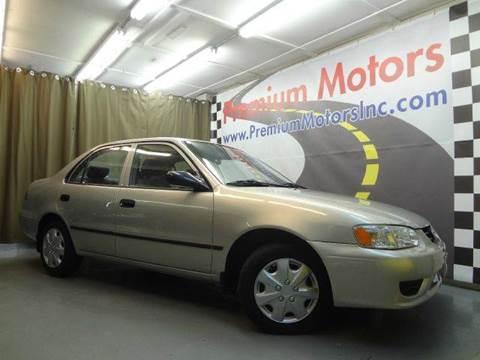2002 Toyota Corolla for sale at Premium Motors in Villa Park IL