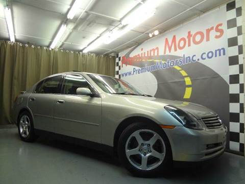 2003 Infiniti G35 for sale at Premium Motors in Villa Park IL