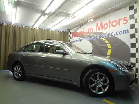 2006 Infiniti G35 for sale at Premium Motors in Villa Park IL