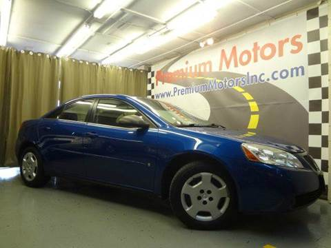 2006 Pontiac G6 for sale at Premium Motors in Villa Park IL