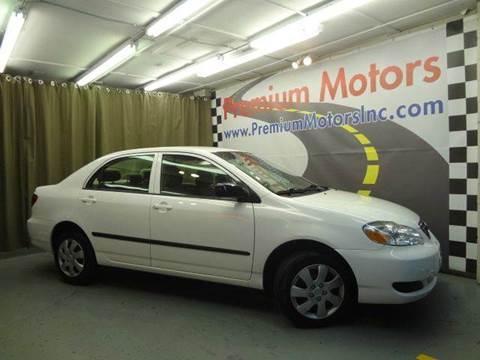 2008 Toyota Corolla for sale at Premium Motors in Villa Park IL