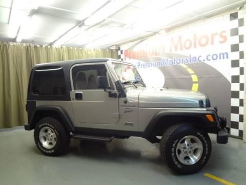 2000 Jeep Wrangler for sale at Premium Motors in Villa Park IL