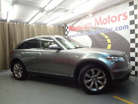 2003 Infiniti FX45 for sale at Premium Motors in Villa Park IL