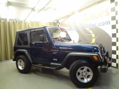 2002 Jeep Wrangler for sale at Premium Motors in Villa Park IL
