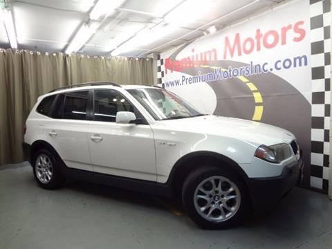 2004 BMW X3 for sale at Premium Motors in Villa Park IL
