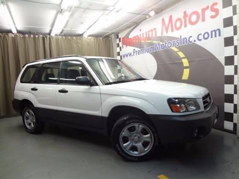 2003 Subaru Forester for sale at Premium Motors in Villa Park IL
