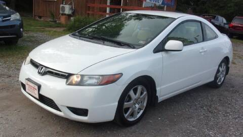 2008 Honda Civic for sale at Select Cars Of Thornburg in Fredericksburg VA