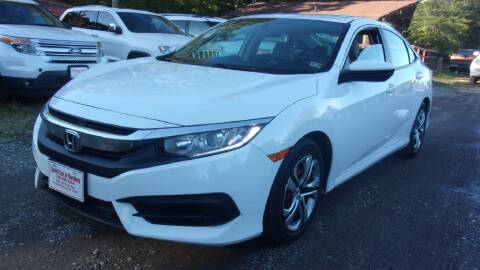 2016 Honda Civic for sale at Select Cars Of Thornburg in Fredericksburg VA