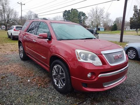 2012 GMC Acadia Denali for sale at Ray Moore Auto Sales in Graham NC