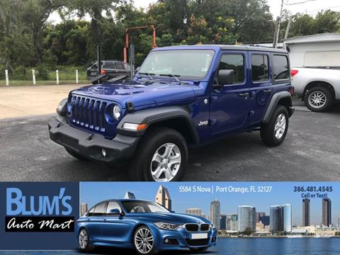 2018 Jeep Wrangler Unlimited for sale at Blum's Auto Mart in Port Orange FL