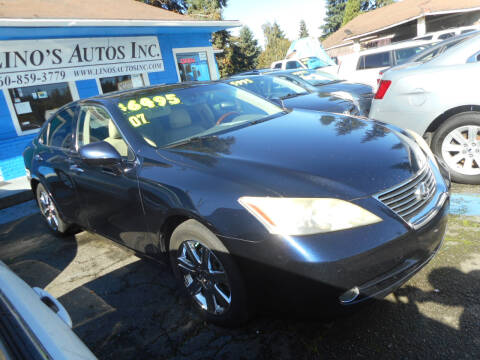 2007 Lexus ES 350 for sale at Lino's Autos Inc in Vancouver WA