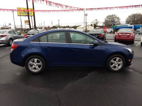 2013 Chevrolet Cruze for sale at Kenny's Auto Sales Inc. in Lowell NC