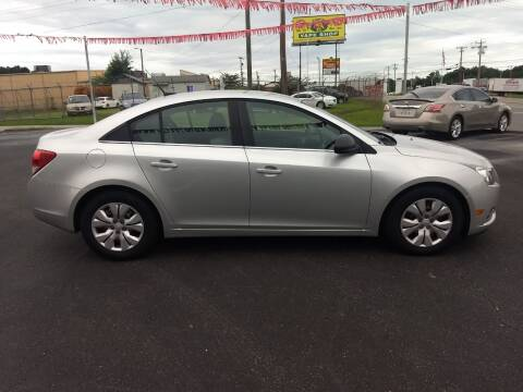 2012 Chevrolet Cruze for sale at Kenny's Auto Sales Inc. in Lowell NC