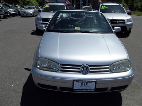2002 Volkswagen Cabrio for sale in Manassas, VA