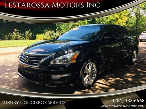 2013 Nissan Altima for sale at Testarossa Motors Inc. in League City TX