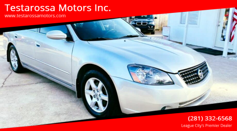 2005 Nissan Altima for sale at Testarossa Motors Inc. in League City TX