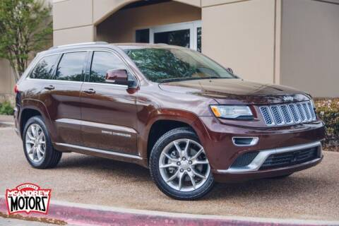 2015 Jeep Grand Cherokee Summit for sale at Mcandrew Motors in Arlington TX
