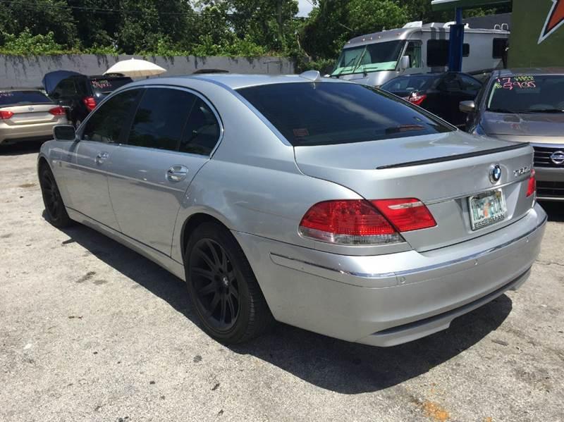 2006 Bmw 7 Series 750Li 4dr Sedan In Miami FL