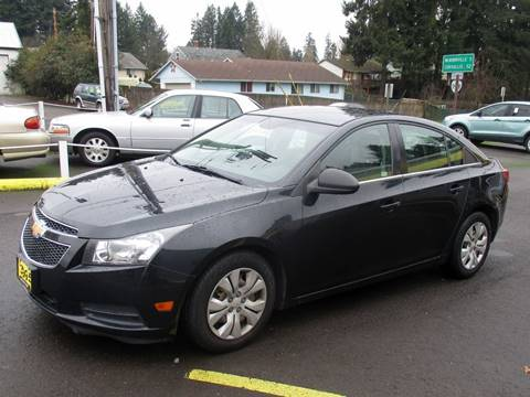 2012 Chevrolet Cruze for sale at Yellow Line Motors in Lafayette OR