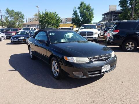 2000 Toyota Camry Solara for sale at BERKENKOTTER MOTORS in Brighton CO