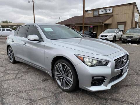 2014 Infiniti Q50 for sale at BERKENKOTTER MOTORS in Brighton CO