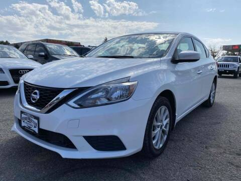 2018 Nissan Sentra for sale at BERKENKOTTER MOTORS in Brighton CO